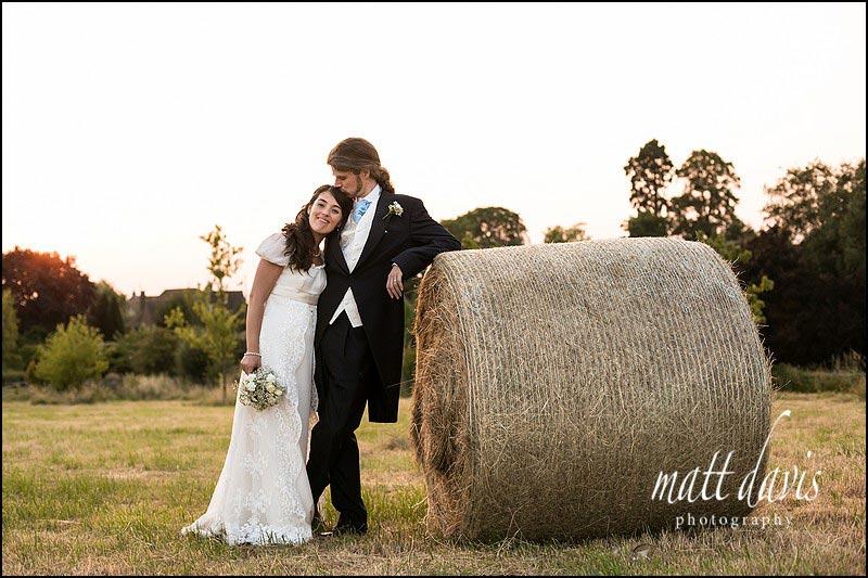 Ellenborough Park wedding photos in the adjacent field