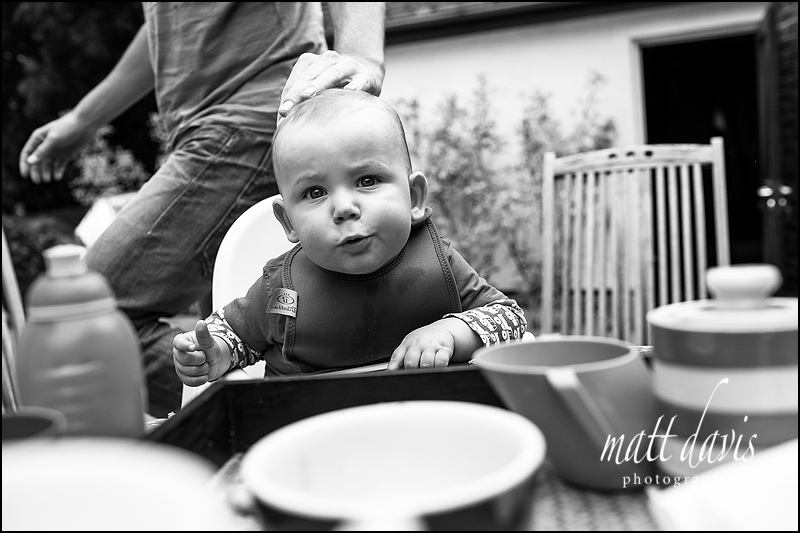 Black and white baby portraits taken in Gloucestershire by Photographer Matt Davis