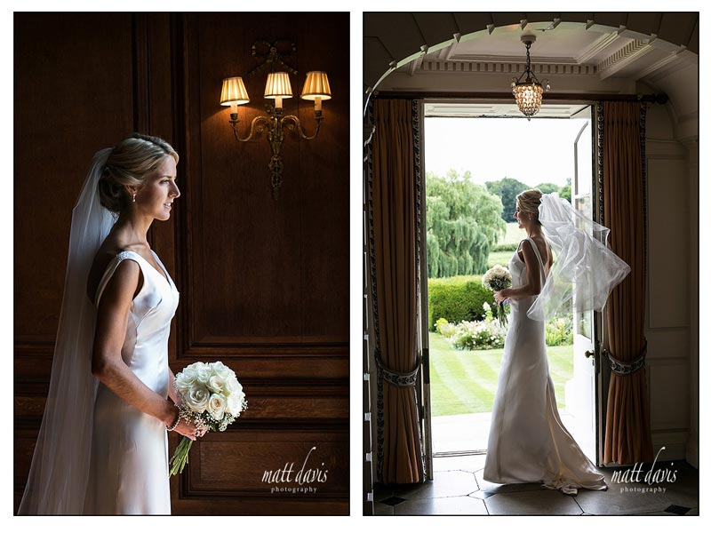 Stunning wedding photographs of bride in doorway at Ardington House