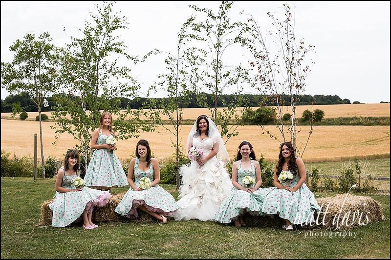 Group wedding photo taken at Cripps Stone Barn
