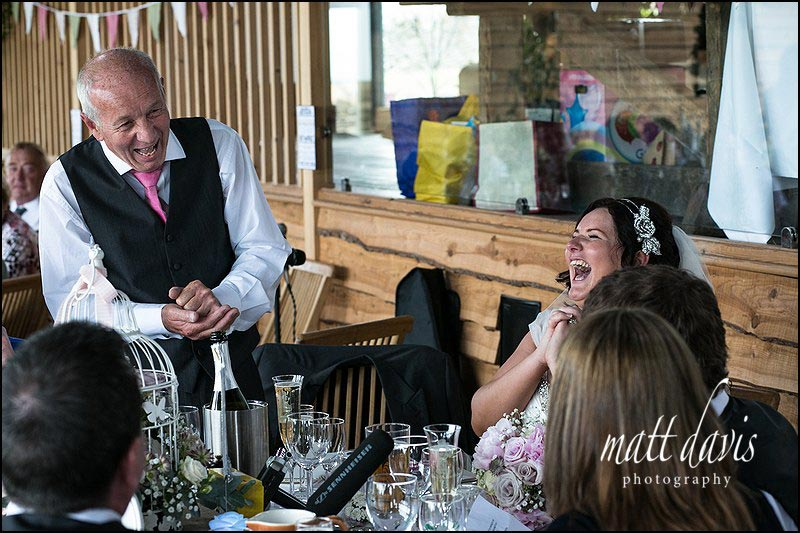 Wedding speeches at a wedding at Cripps Stone Barn