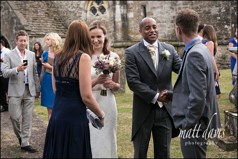 Natural wedding photography at Kingscote Church Gloucestershire