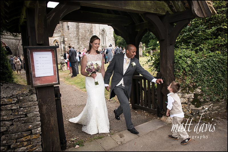 Documentary wedding photographer at Kingscote Church, Gloucestershire