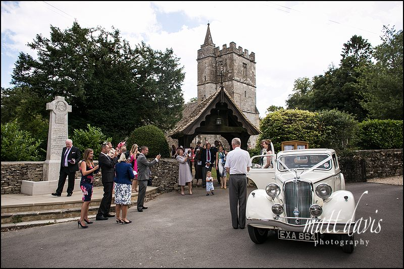 Wedding at Kingscote Church