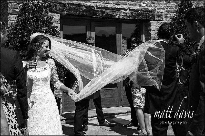 Black and white Wedding photos Kingscote Barn