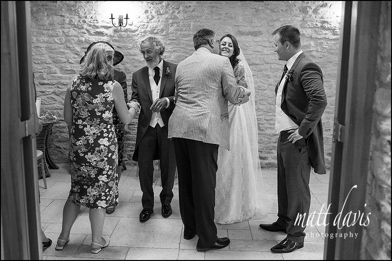 Receiving line Wedding photos Kingscote Barn