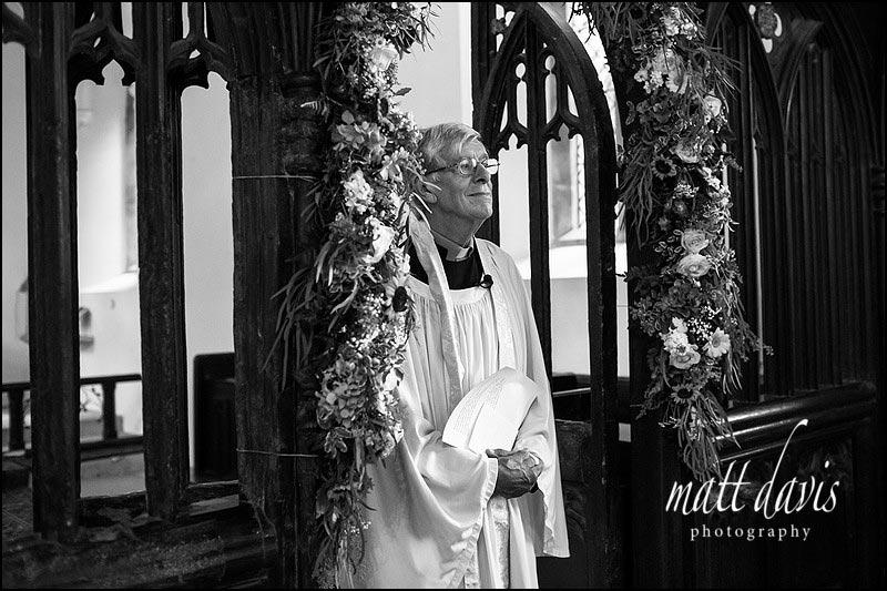 Vicar at Beverston Church