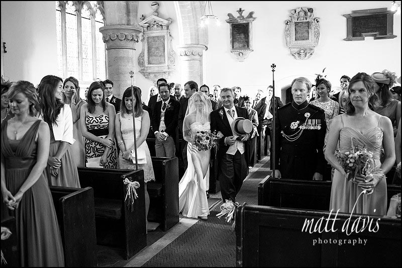 Black and white wedding photos of couple getting married in the Cotswolds