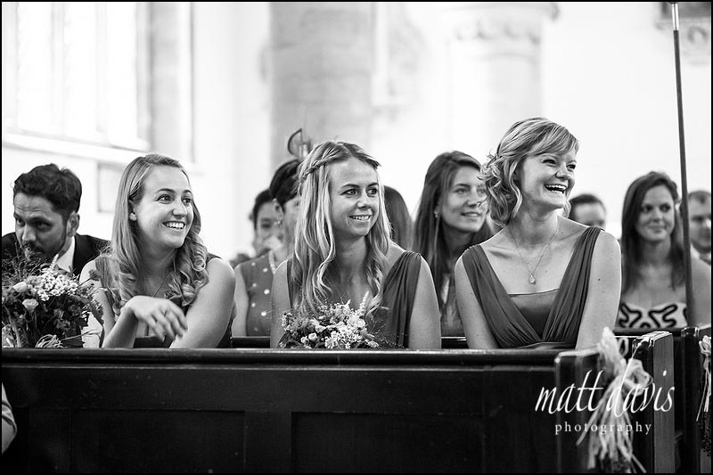 Bridesmaids with hair down and plats