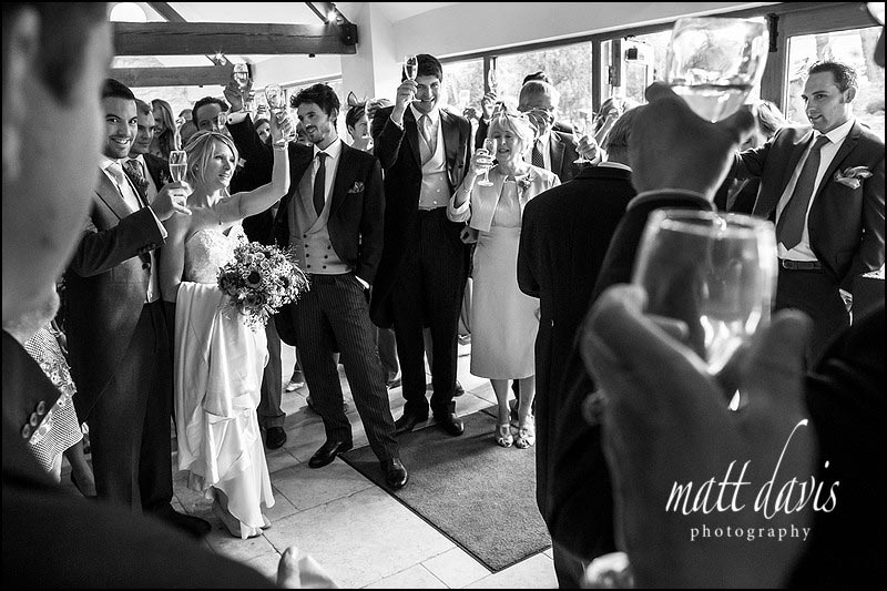 Wedding speeches at Kingscote Barn in the Cotswolds