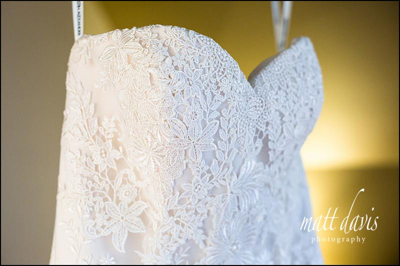 wedding dress details in close up