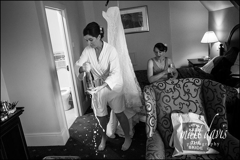 Black and white documentary wedding photography by Matt Davis Photography