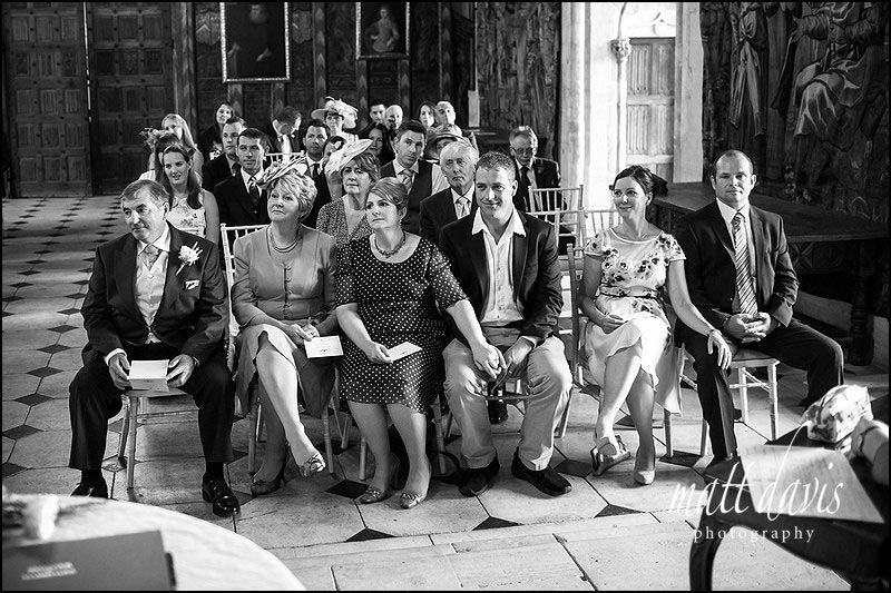 wedding guests watch the Wedding at Berkeley Castle