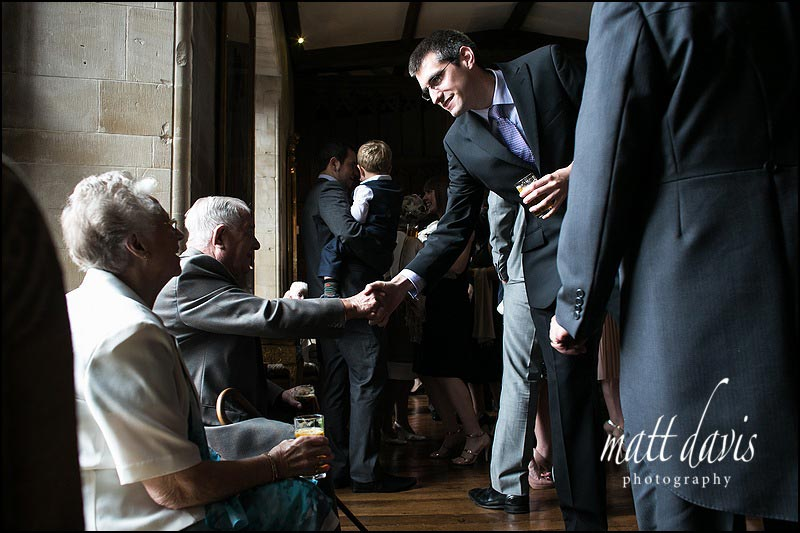 Natural light documentary wedding photography at Berkeley castle