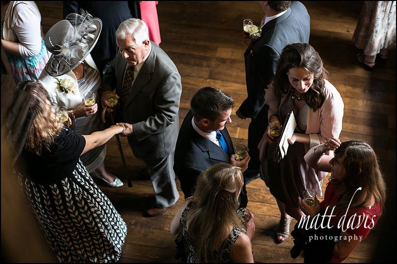 Natural light documentary wedding photos at Berkeley castle