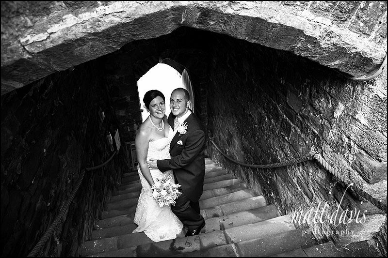 Black and White Photo of Wedding at Berkeley Castle