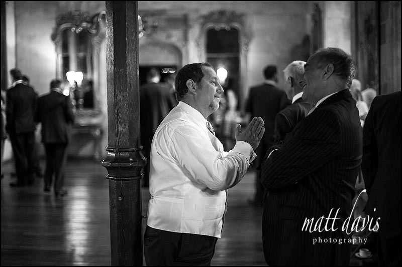 Black and white natural wedding photography at Berkeley Castle