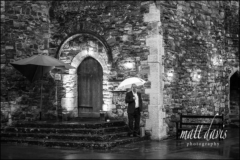 black and white Documentary wedding photography at Berkeley Castle