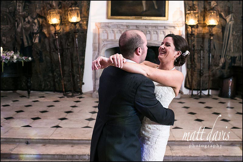 Berkeley Castle dance floor - bride and grooms first dance