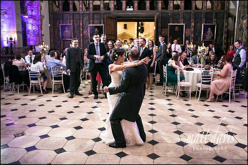 Berkeley Castle dance floor showing bride and grooms first dance