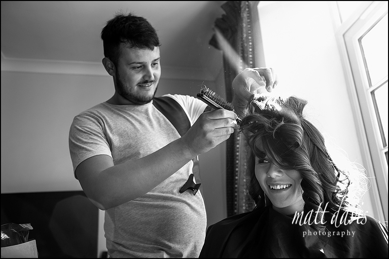 Wedding hair styling in Herefordshire