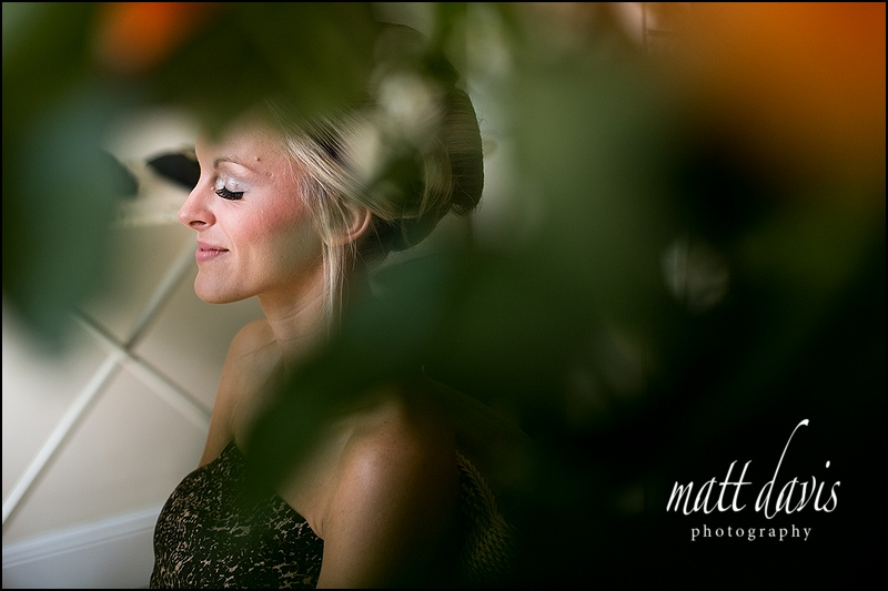 Bride having make-up before wedding.  Taken by Matt Davis Photography