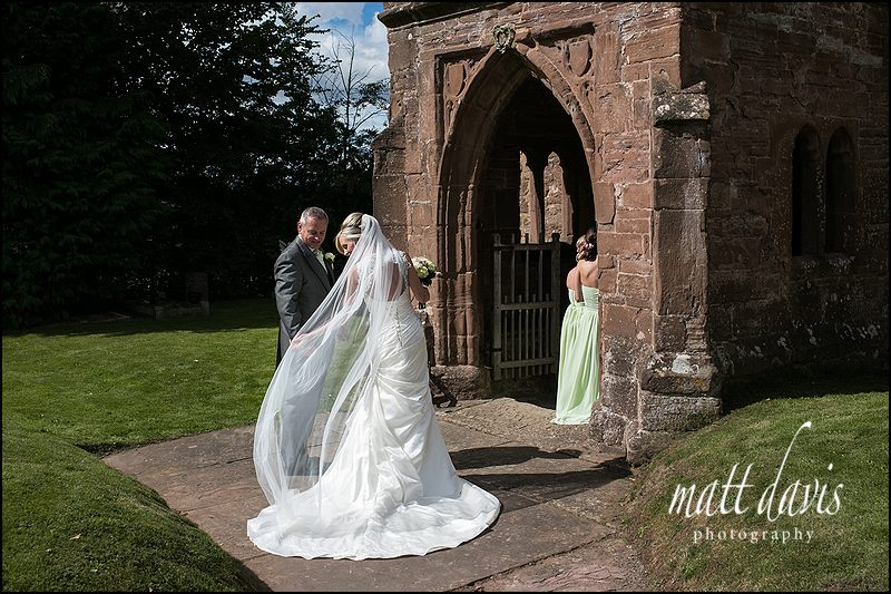 Wedding at St John The Baptist Church, Kings Caple, Herefordshire.