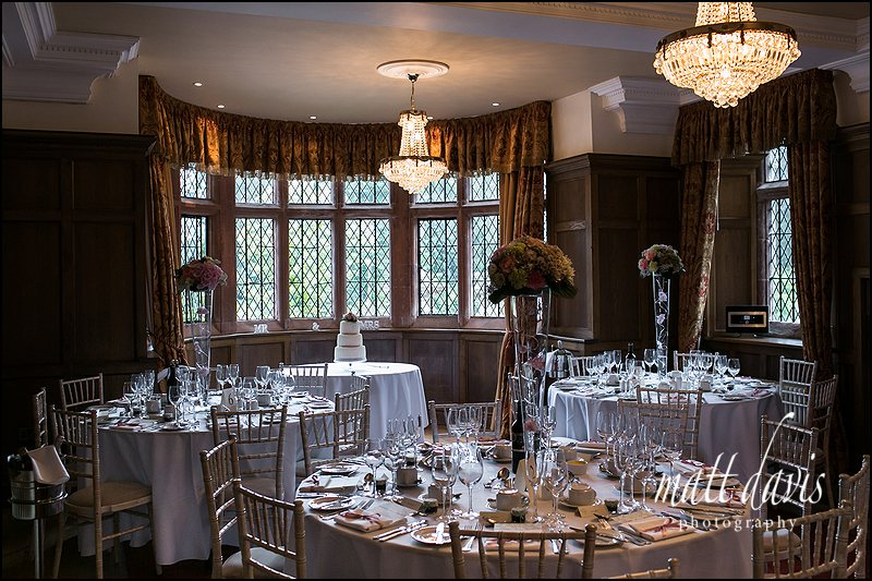 Inside Caradoc Court set for the wedding breakfast