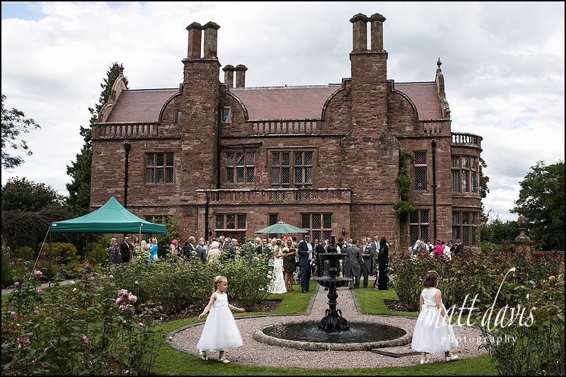 The fabulous Caradoc Court with fountain and flower girls
