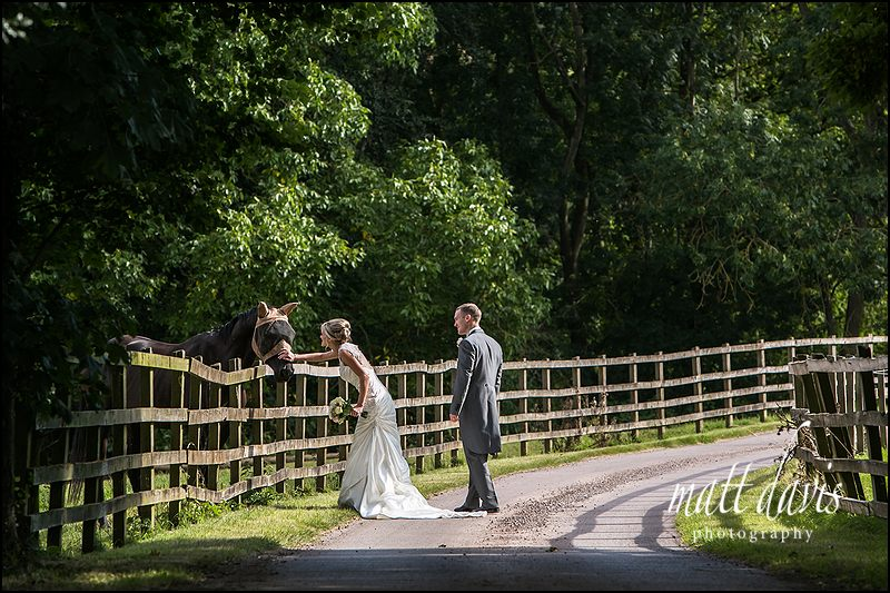 wedding photos at Caradoc Court taken on the driveway