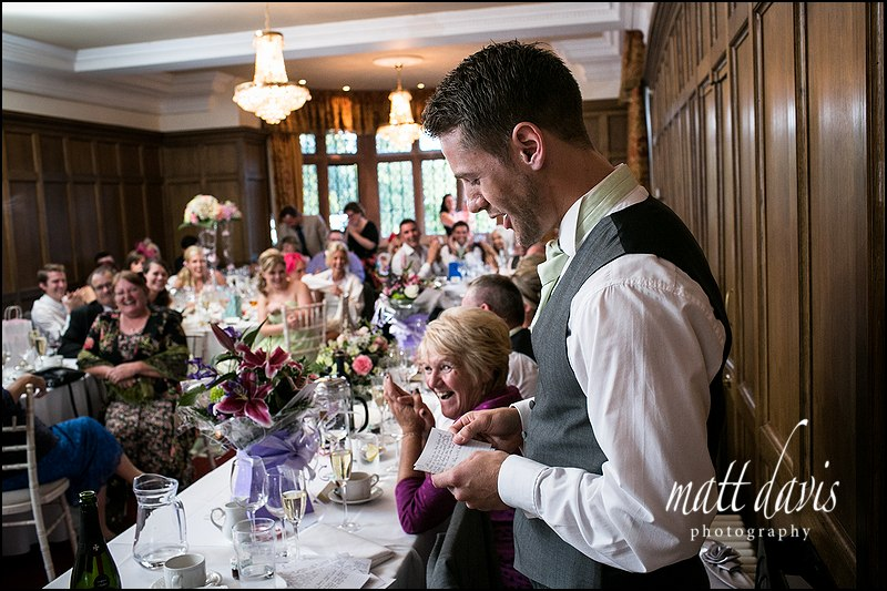 Best Mans wedding speech at Caradoc Court