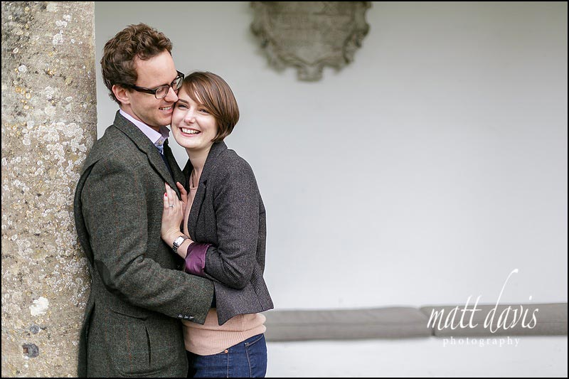 Relaxed engagement photos taken by Matt Davis Photography at Barnsley House in Gloucestershire