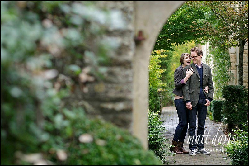 Engagement photos around Barnsley House near Cirencester, Gloucestershire