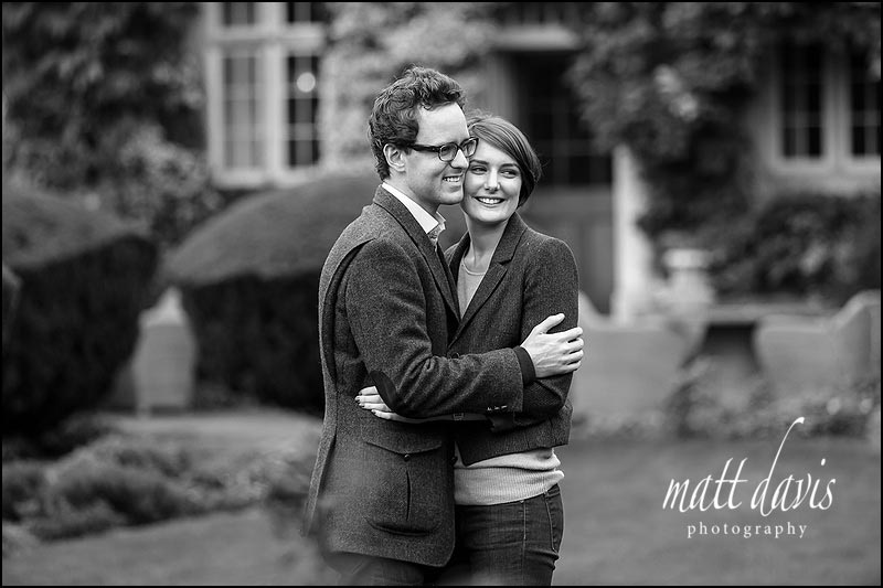 Stunning black and white engagement photo taken by Matt Davis Photography