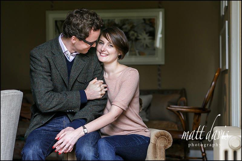 Beautiful engagement photos taken at Barnsley House, Gloucestershire by Matt Davis Photography