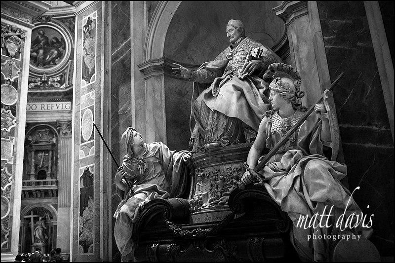 Statues inside St. Peter's basilica