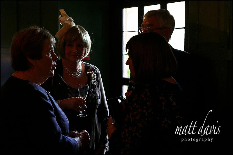 Photos of wedding guests at The Bear of Rodborough in Gloucestershire