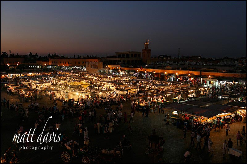 The main square in Marrakech. Jemaa el-Fnaa