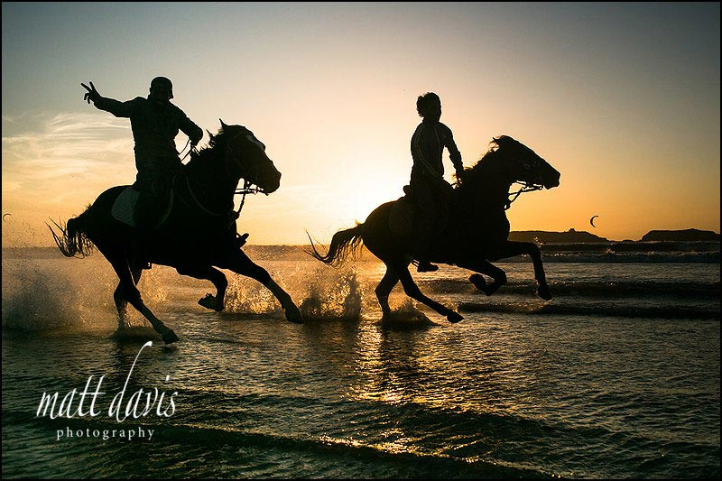 A five day break in Marrakech riding horses on the beach