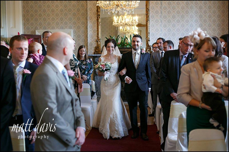 Wedding ceremony at Limpley Stoke Hotel