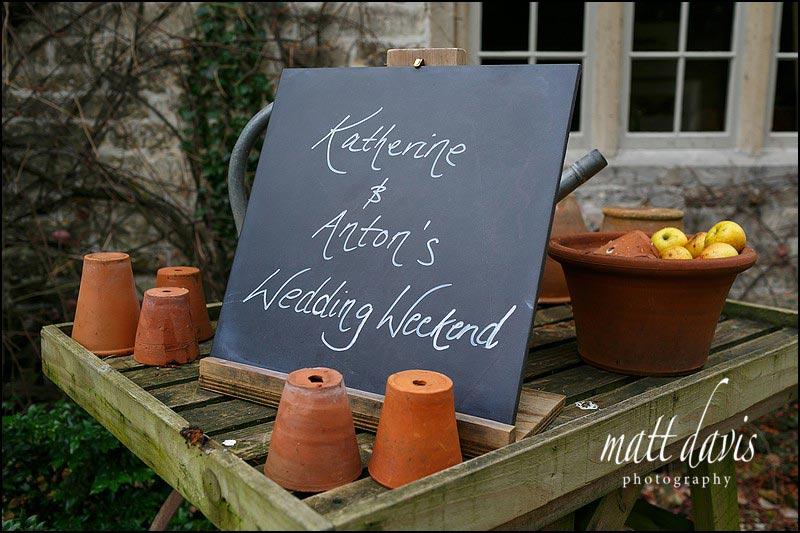 Katherine and Anton's wedding weekend at Barnsley House