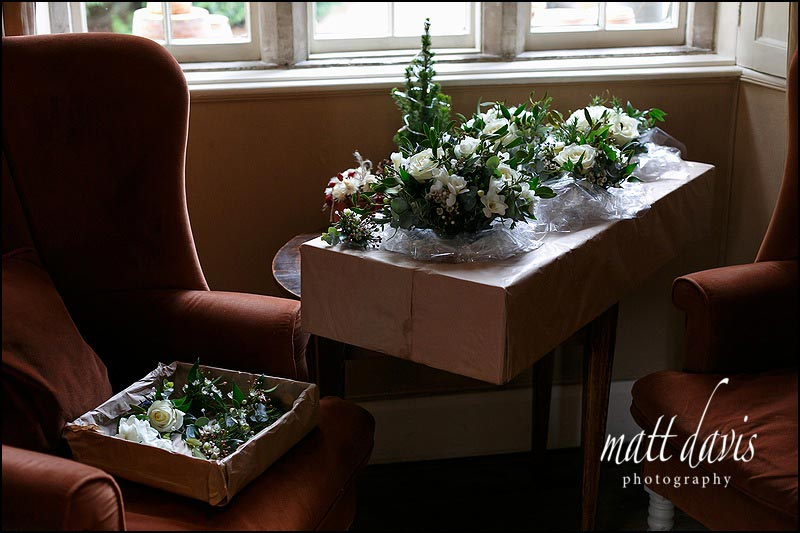 Wedding flowers delivered to Barnsley House