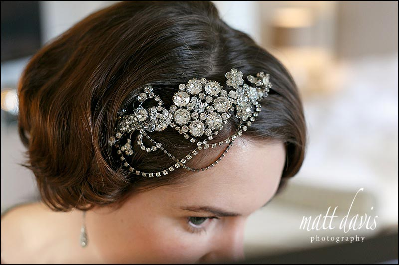 Wedding hair piece with 20's styling