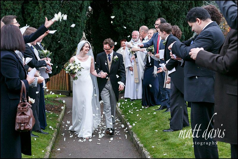 Confetti throwing at Barnsley church