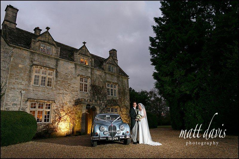 A winter wedding at Barnsley House photographed by Matt Davis Photography