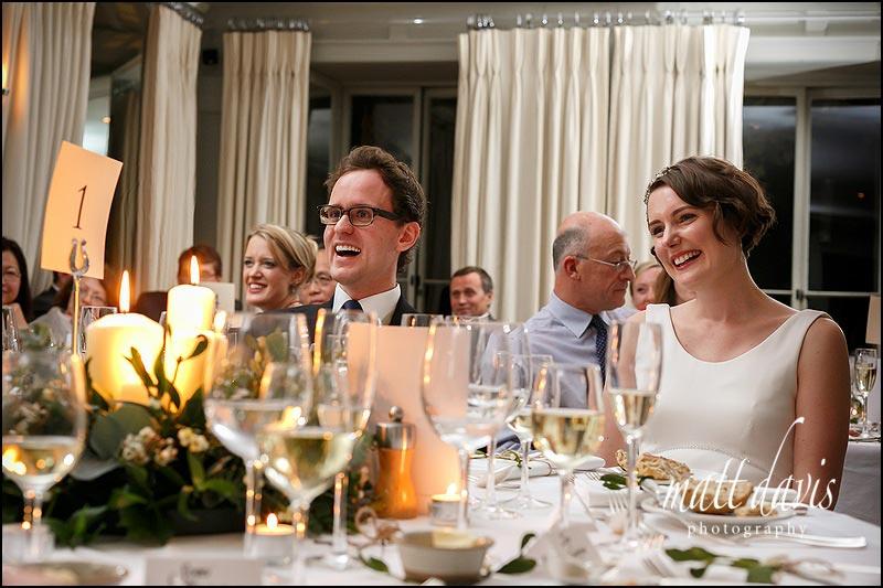 relaxed wedding speech photos at Barnsley House