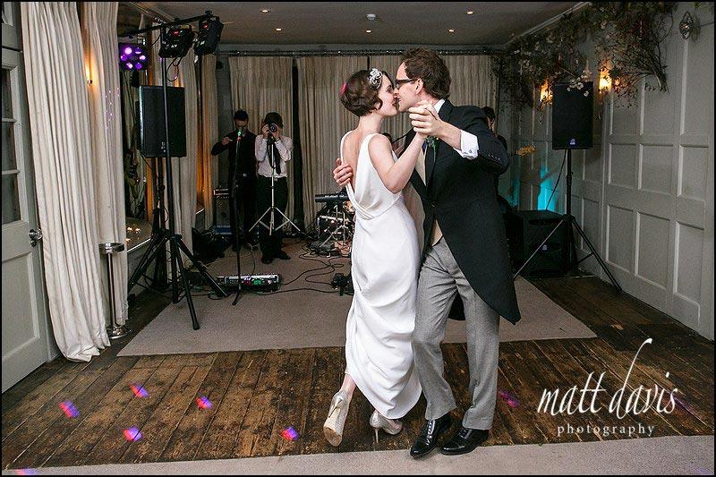 wedding couple first dance photo at Barnsley House
