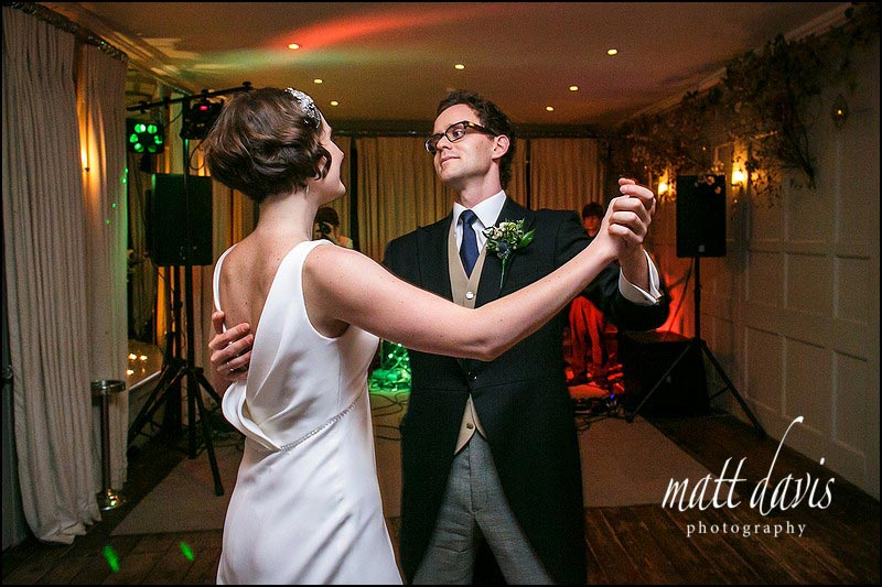 wedding couple first dance photos at Barnsley House