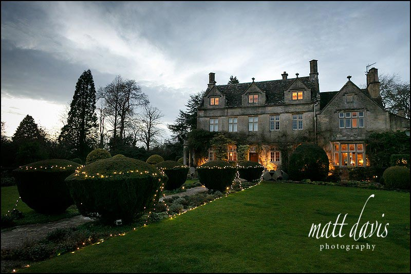 A small wedding at Barnsley House held in the room on the right