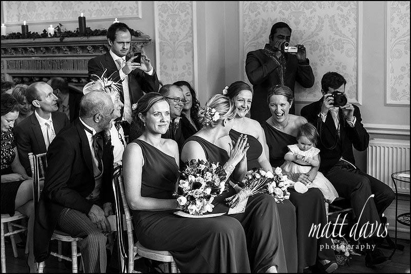 black and white documentary wedding photography in Gloucestershire